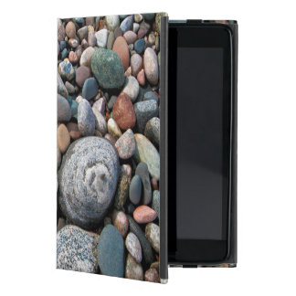 USA, Michigan. Polished Pebbles On The Shore Cover For iPad Mini