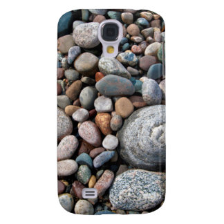 USA, Michigan. Polished Pebbles On The Shore Galaxy S4 Case