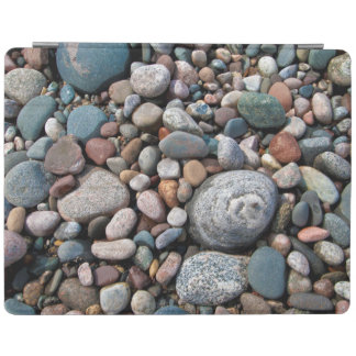USA, Michigan. Polished Pebbles On The Shore iPad Cover