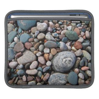 USA, Michigan. Polished Pebbles On The Shore iPad Sleeve
