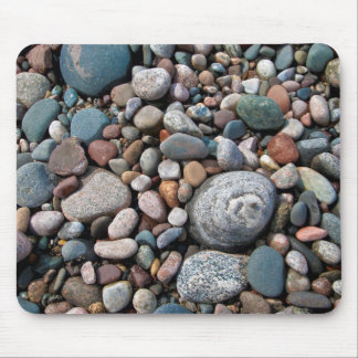 USA, Michigan. Polished Pebbles On The Shore Mouse Pad