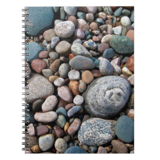 USA, Michigan. Polished Pebbles On The Shore Notebooks