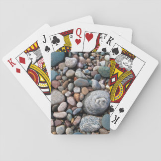 USA, Michigan. Polished Pebbles On The Shore Playing Cards