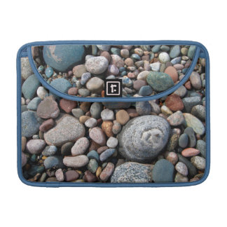 USA, Michigan. Polished Pebbles On The Shore Sleeve For MacBooks
