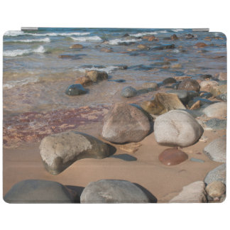 USA, Michigan. Rounded Boulders On 12 Mile iPad Cover