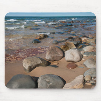 USA, Michigan. Rounded Boulders On 12 Mile Mouse Pad