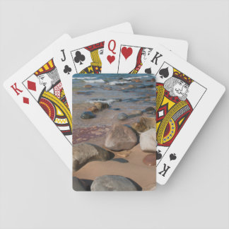 USA, Michigan. Rounded Boulders On 12 Mile Playing Cards