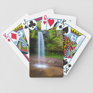 USA, Michigan. Scott's Falls In Upper Michigan Bicycle Playing Cards