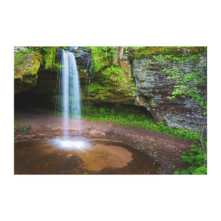 USA, Michigan. Scott's Falls In Upper Michigan Canvas Prints