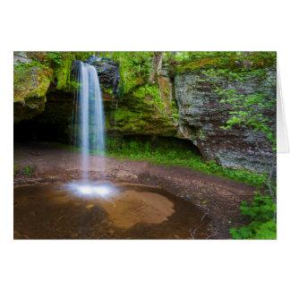 USA, Michigan. Scott's Falls In Upper Michigan Card