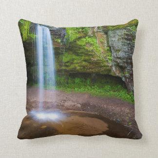 USA, Michigan. Scott's Falls In Upper Michigan Pillow