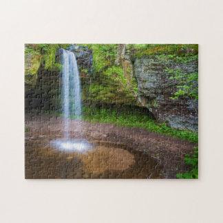 USA, Michigan. Scott's Falls In Upper Michigan Jigsaw Puzzle