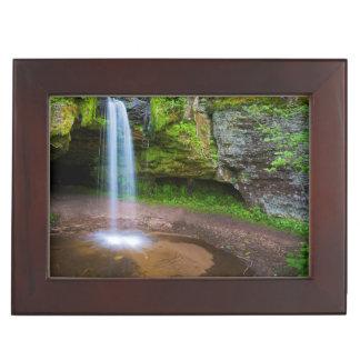 USA, Michigan. Scott's Falls In Upper Michigan Keepsake Box