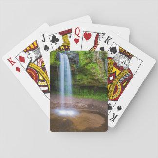USA, Michigan. Scott's Falls In Upper Michigan Playing Cards