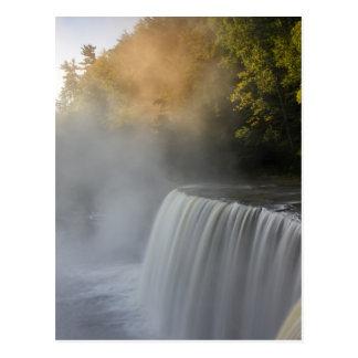 USA, Michigan, Upper Peninsula. Autumn sunrise Postcard