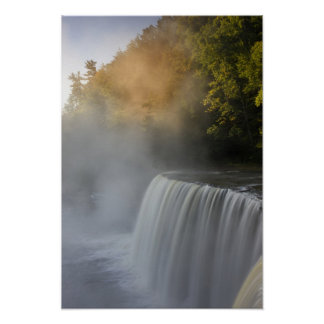 USA, Michigan, Upper Peninsula. Autumn sunrise Poster