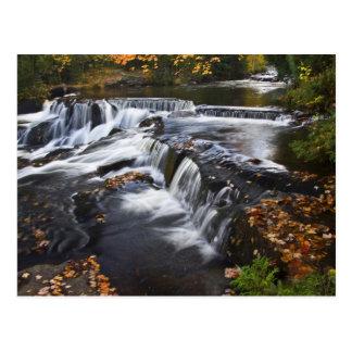 USA, Michigan, Upper Peninsula. Bond Falls and Postcard