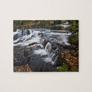 USA, Michigan, Upper Peninsula. Bond Falls and Jigsaw Puzzles