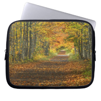 USA, Michigan, Upper Peninsula. Roadway into Laptop Sleeves
