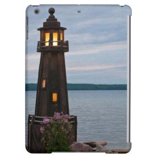 USA, Michigan. Yard Decoration Lighthouse