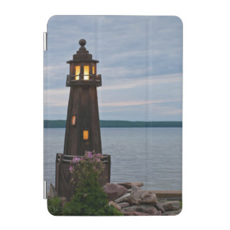 USA, Michigan. Yard Decoration Lighthouse iPad Mini Cover