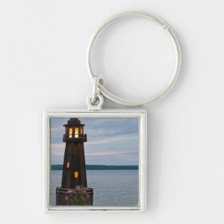 USA, Michigan. Yard Decoration Lighthouse Key Ring