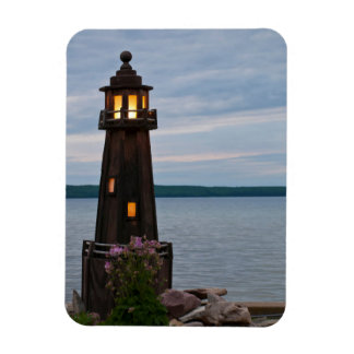 USA, Michigan. Yard Decoration Lighthouse Magnet