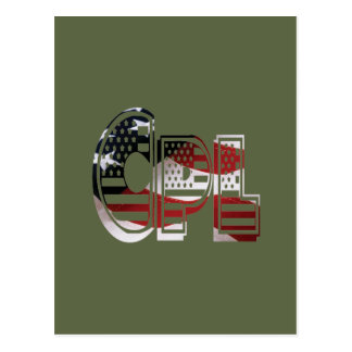 USA Military Green American Cpl Corporal Postcard