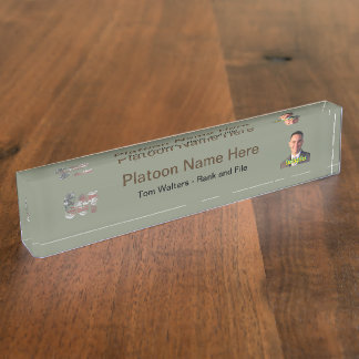 USA Military Green American Sgt Sergeant Desk Nameplate