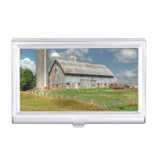 USA, Minnesota Barn And Silo Business Card Holder