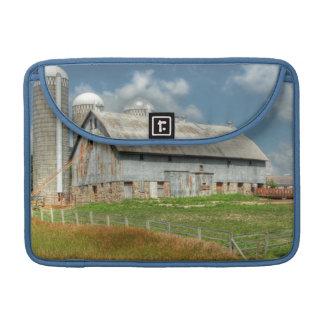USA, Minnesota Barn And Silo MacBook Pro Sleeves