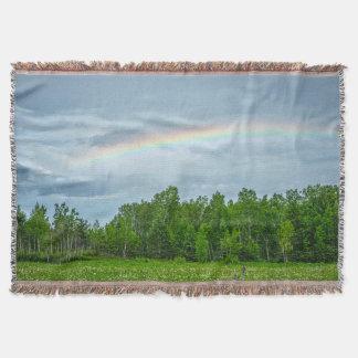 USA, Minnesota. Green meadow with wildflowers Throw Blanket