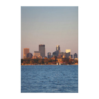 USA, Minnesota, Minneapolis, City Skyline Canvas Print