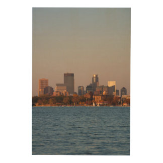 USA, Minnesota, Minneapolis, City Skyline Wood Canvases
