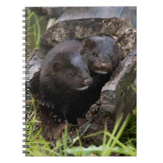 USA, Minnesota, Sandstone, Minnesota Wildlife Spiral Notebook