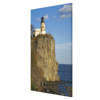 USA, Minnesota.  Split Rock Lighthouse on Lake Canvas Print