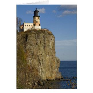 USA, Minnesota.  Split Rock Lighthouse on Lake Card