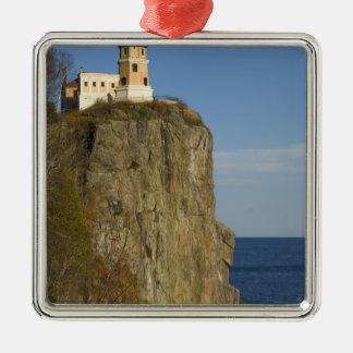 USA, Minnesota.  Split Rock Lighthouse on Lake Christmas Ornament