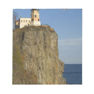 USA, Minnesota.  Split Rock Lighthouse on Lake Notepad