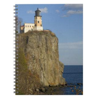 USA, Minnesota.  Split Rock Lighthouse on Lake Spiral Notebook