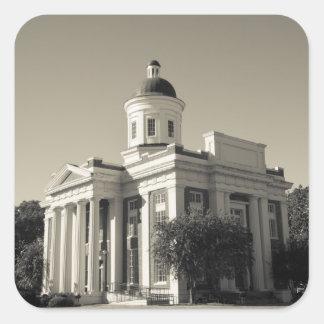 USA, Mississippi, Canton. Cinema town of central Square Sticker