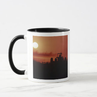 USA, Mississippi, disking cotton field Mug