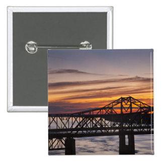 USA, Mississippi, Vicksburg. I-20 Highway and 15 Cm Square Badge