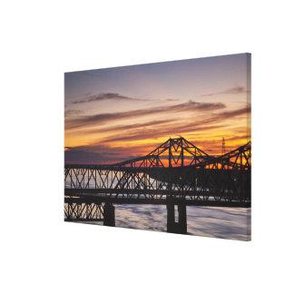 USA, Mississippi, Vicksburg. I-20 Highway and Canvas Print