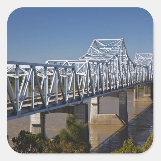 USA, Mississippi, Vicksburg. I-20 Highway Square Stickers