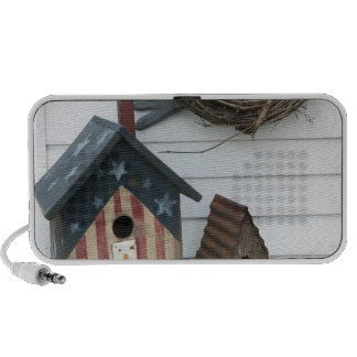 USA, Missouri, Herman: Patriotic Birdhouses, Travelling Speaker