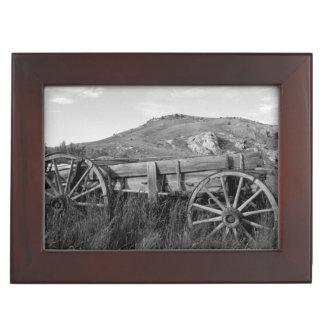 USA, Montana, Bannack State Park Old wagon made Keepsake Box