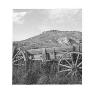 USA, Montana, Bannack State Park Old wagon made Notepad