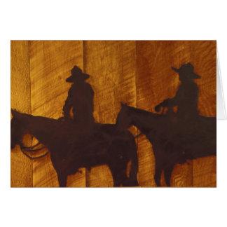 USA, Montana, Boulder River Cowboys on horses Card