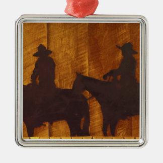 USA, Montana, Boulder River Cowboys on horses Christmas Ornament